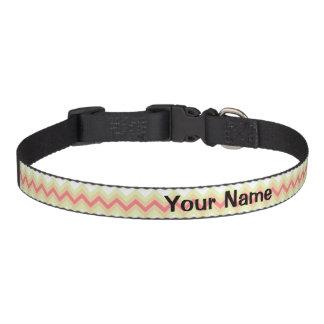 Striped pet collar