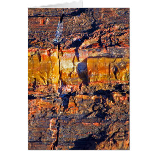 """""""Striped Petrified Wood"""" collection Greeting Card"""