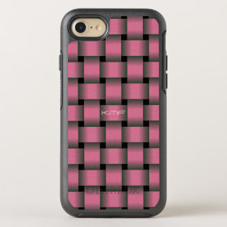 Striped Pink Basket Weave OtterBox Symmetry iPhone 8/7 Case