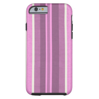 Striped Pink cotton Fabric Pattern Tough iPhone 6 Case
