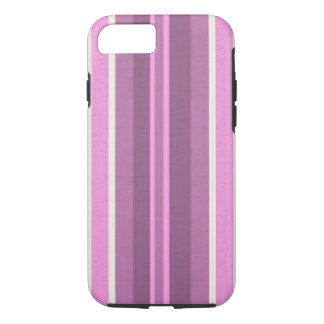 Striped Pink cotton Fabric Pattern iPhone 7 Case