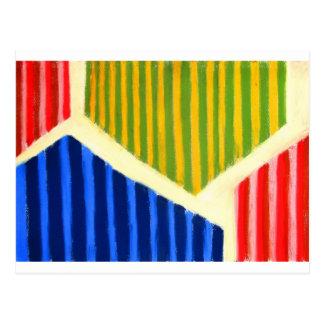 Striped Polygons (geometric expressionism) Postcard