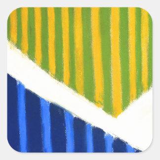 Striped Polygons geometric expressionism Sticker