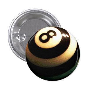 Striped Pool Ball 3 Cm Round Badge