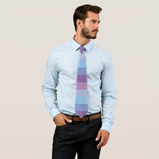 Striped Purple and Blue Palette Tie