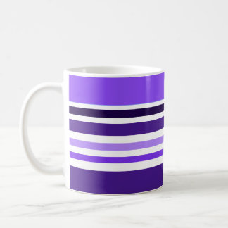 Striped Purple Coffee Mug