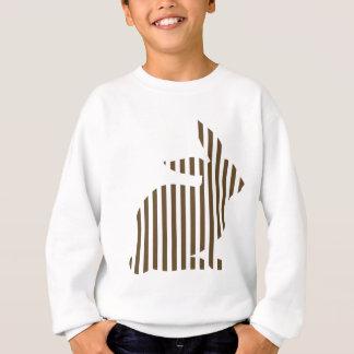 Striped Rabbit Silhouette Sweatshirt