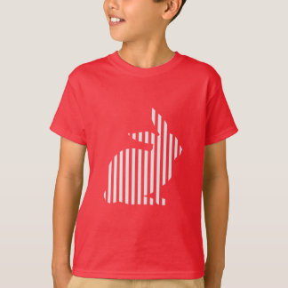 Striped Rabbit Silhouette T-Shirt