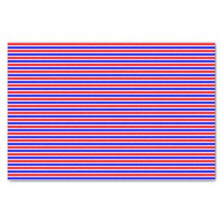 Striped red white blue tissue paper