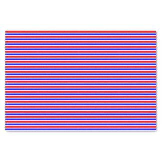 Striped red white blue tissue paper