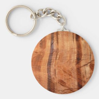 Striped Rock of Double Arch Alcove II Zion Park Key Ring