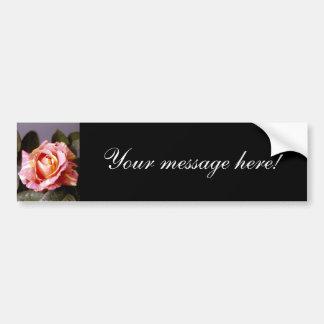 Striped Rose Bumper Sticker
