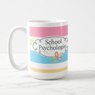 Striped School Psychologist's Mug