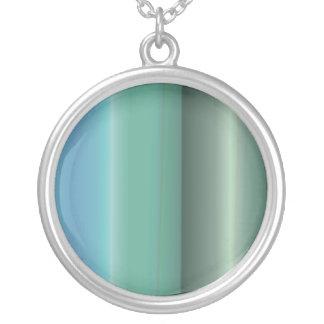 Striped Sea Round Pendant Necklace
