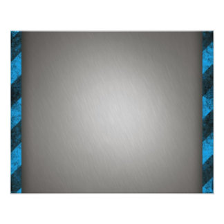 Striped Silver Brushed Aluminum Art Photo