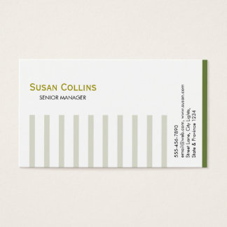Striped Simple Modern Elegant Professional Business Card