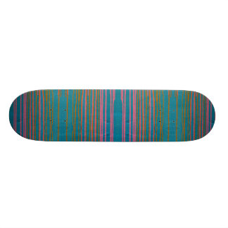 Striped skateboard. skateboard deck