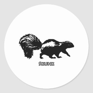 Striped Skunk Classic Round Sticker
