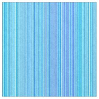 Striped Stripes Pattern Print Blue Fabric