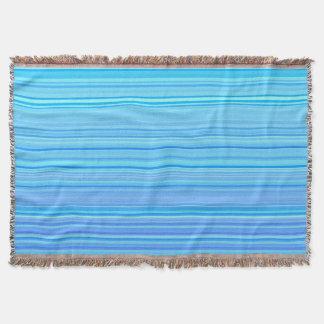 Striped Stripes Pattern Print Blue Throw Blanket