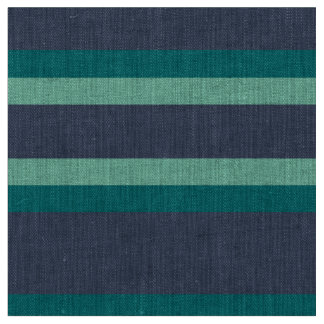 Striped Teal & Blue Pattern Fabric