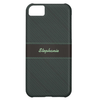 Striped Teal Personalized iPhone 5 Case
