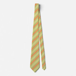 Striped Tie Men Orange Green Stripe Pattern Design