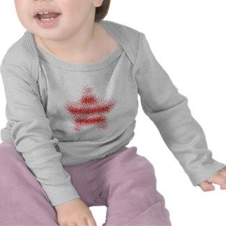 Striped USA Warped Star (Red & White) Infant Shirt