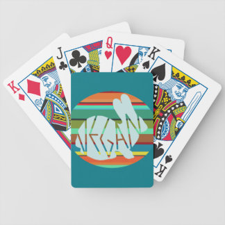 Striped Vegan Bunny Bicycle Playing Cards