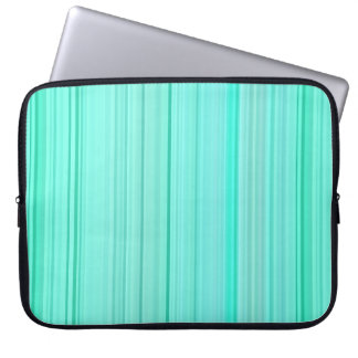 Striped Vertical Stripes Green Teal Seafoam Mint Laptop Sleeve