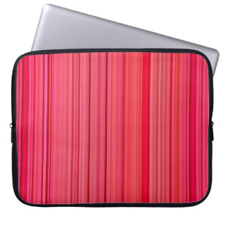 Striped Vertical Stripes Red Laptop Sleeve
