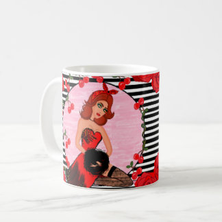 Striped Vintage Glamour Mug