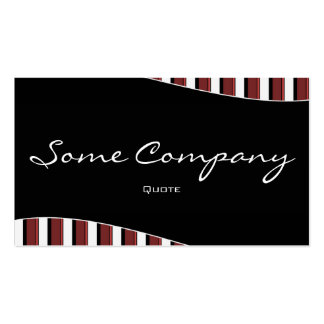 Striped Wave (Cherries) Business Card Template
