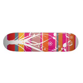 Striped Whimsy Skate Deck