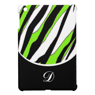 Striped Zebra and Neon Green iPad Mini Covers