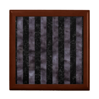 STRIPES1 BLACK MARBLE & BLACK WATERCOLOR GIFT BOX