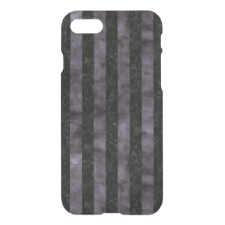 STRIPES1 BLACK MARBLE & BLACK WATERCOLOR iPhone 8/7 CASE