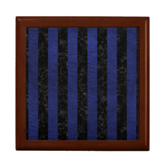 STRIPES1 BLACK MARBLE & BLUE LEATHER GIFT BOX