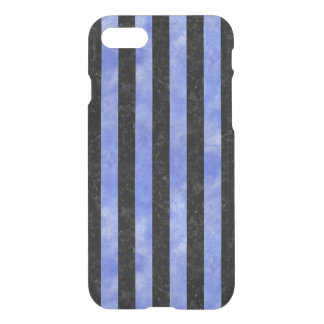 STRIPES1 BLACK MARBLE & BLUE WATERCOLOR iPhone 8/7 CASE