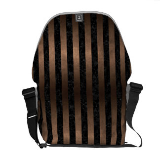 STRIPES1 BLACK MARBLE & BRONZE METAL COMMUTER BAGS