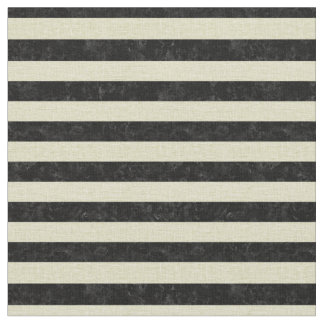 STRIPES2 BLACK MARBLE & BEIGE LINEN FABRIC