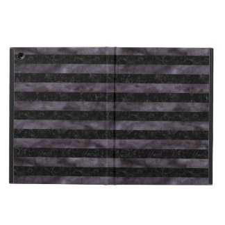STRIPES2 BLACK MARBLE & BLACK WATERCOLOR iPad AIR CASE