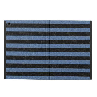 STRIPES2 BLACK MARBLE & BLUE DENIM iPad AIR COVER