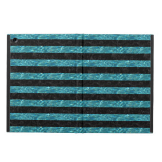 STRIPES2 BLACK MARBLE & BLUE-GREEN WATER iPad AIR COVER