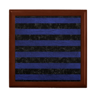 STRIPES2 BLACK MARBLE & BLUE LEATHER GIFT BOX