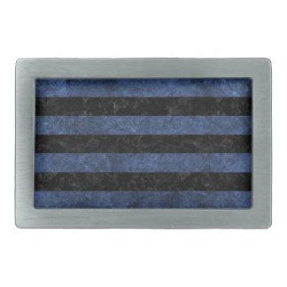 STRIPES2 BLACK MARBLE & BLUE STONE BELT BUCKLE