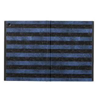 STRIPES2 BLACK MARBLE & BLUE STONE iPad AIR COVER