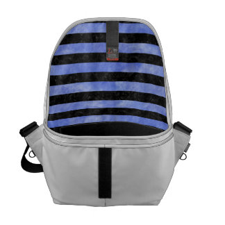 STRIPES2 BLACK MARBLE & BLUE WATERCOLOR COMMUTER BAG