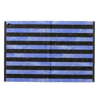 STRIPES2 BLACK MARBLE & BLUE WATERCOLOR COVER FOR iPad AIR