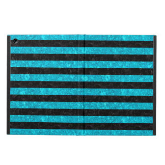 STRIPES2 BLACK MARBLE & TURQUOISE MARBLE iPad AIR COVER